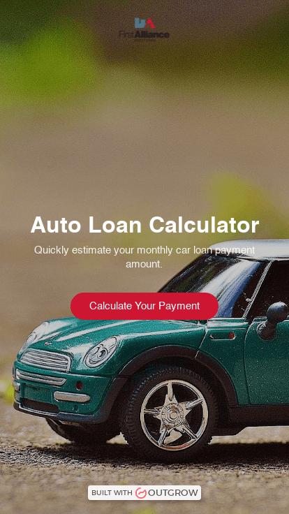 Auto Loan Calculator First Alliance Credit Union